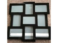 Multi collage black gloss photo frame from Next