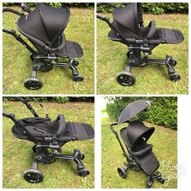 Concord Neo full travel- pushchair, infant car seat, carrycot/car seat, parasol