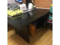 Office desk with chair and 2 small