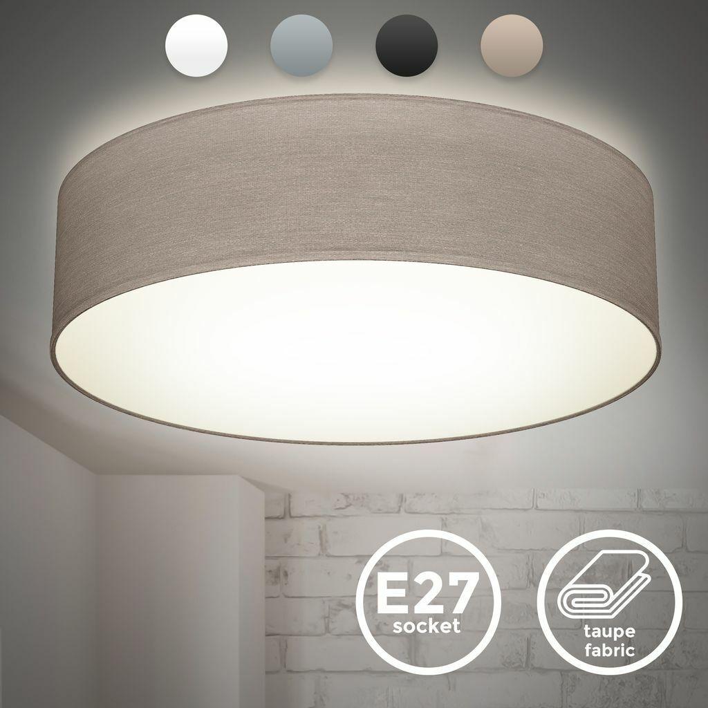 Luxus LED Deckenleuchte Wohnzimmer Lampe Durchmesser 40cm Glas Schirm EEK A E27