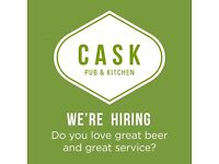 Fabulous FULL & PART TIME bar staff needed for brilliant beer pub in Pimlico. Great Pay, Great Team