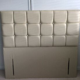Double beige diamanté headboard