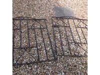 Pair of wrought iron gates.