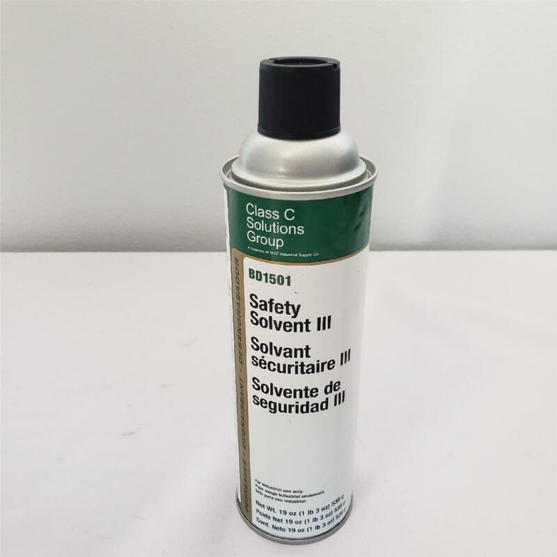 = Lot of 12 Solutions Group Class C BD1501 Safety Solvent III 19 oz Can NEW