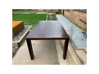 Calligaris Extending. Wenge Wood finished dining table