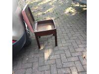 1930;s piano stool/ seat mahogany/ lift up lid. Storage area pink Drayton cover nice
