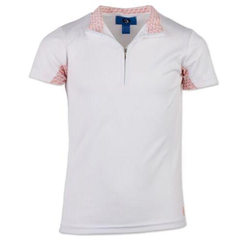 New! Horze brand YOUTH GIRLS LENA JR. TRAINING ENGLISH SHOW SHIRT White 5 Sizes!