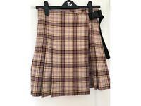 Collision Kilt style Skirt with buckle clip.