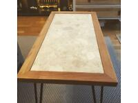Oak marble coffee table