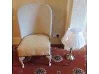 Beautiful Vintage chair plus Brand New light