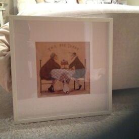 Sam Toft Print in White Frame