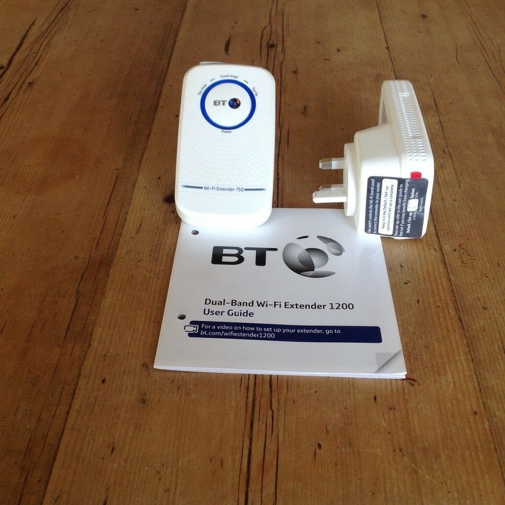 2 x BT 11 ac Dual Band Wi Fi Extenders 1200 kits ( Boosters) - white