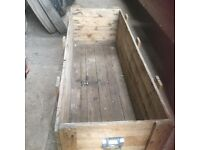 Wooden Planked Chest / box 4ft 8 inches long