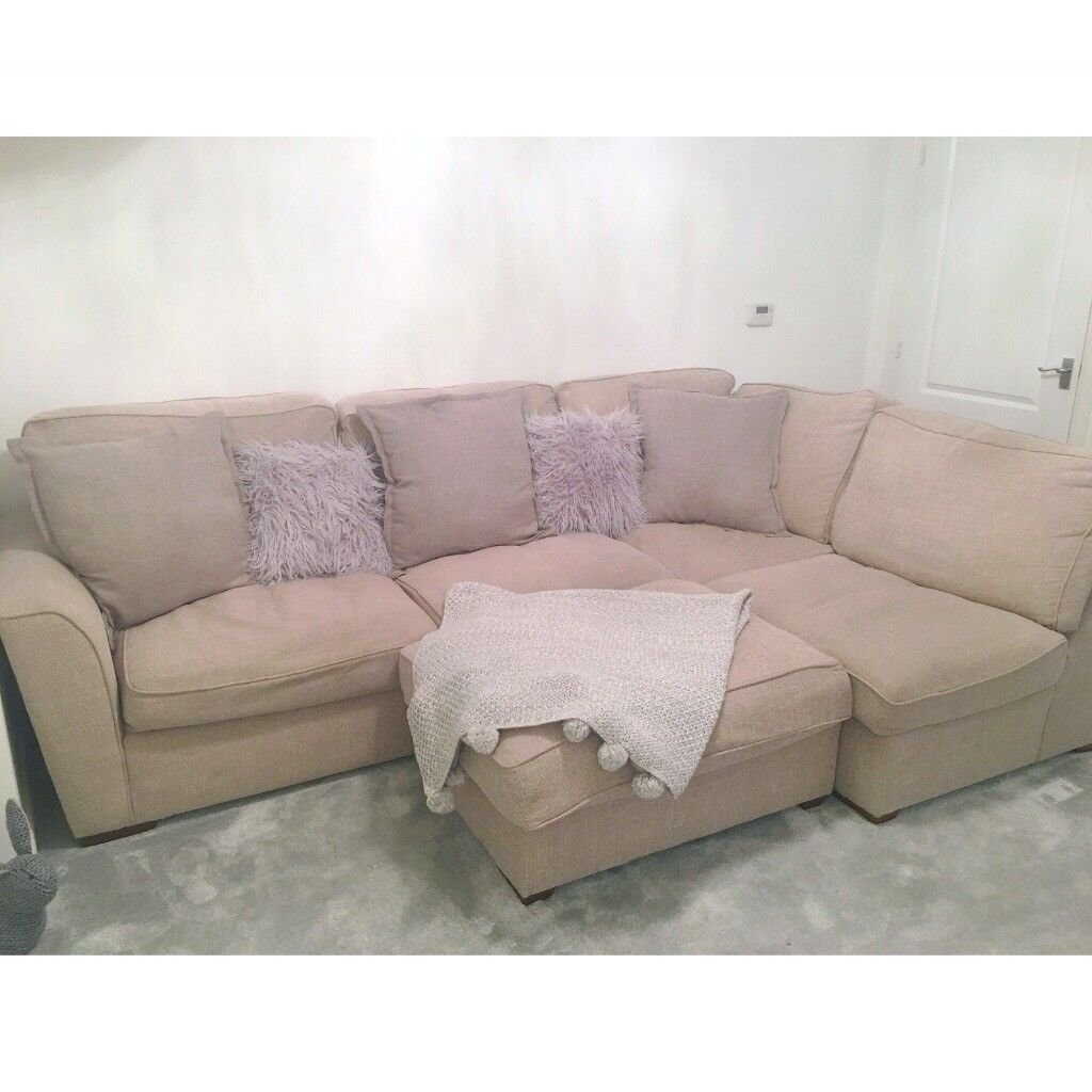 Furniture Village Fable L-Shape Sofa In Natural.