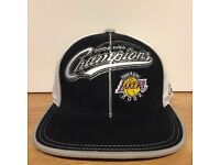 Rare NBA Finals 2002 Champion Lakers Cap Reebok Hat S/M Basketball Baseball