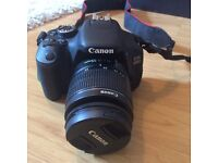 Canon EOS 600D with EFS 18-55mm Lens& Carry Case