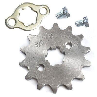 70cc Pit Dirt Bike - 420 14T 17mm Front Chain Sprocket 50cc 70cc 90cc 110cc 125cc Pit Dirt Bike ATV