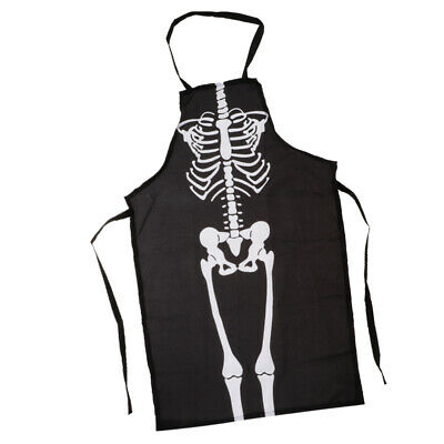 Cosplay Koch Halloween Skelett Kürbis Schürze Kostüm BBQ Kochen Party