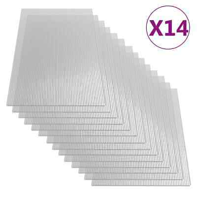 vidaXL 14x Paneles de Policarbonato Lámina Placa Cubierta Invernadero de Pared