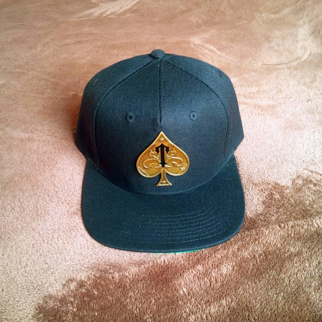 c58fa5c8b84 100% Authentic Brand New   Unworn Gold Ace of Spades Trapstar Snapback  Baseball Cap - ULTRA RARE Hat
