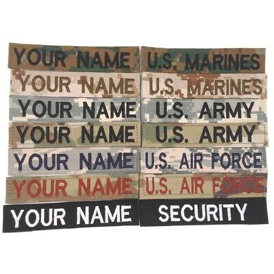 Military Custom Name Tapes: Multicam Scorpion/OCP ACU ABU Desert/Woodland Marpat