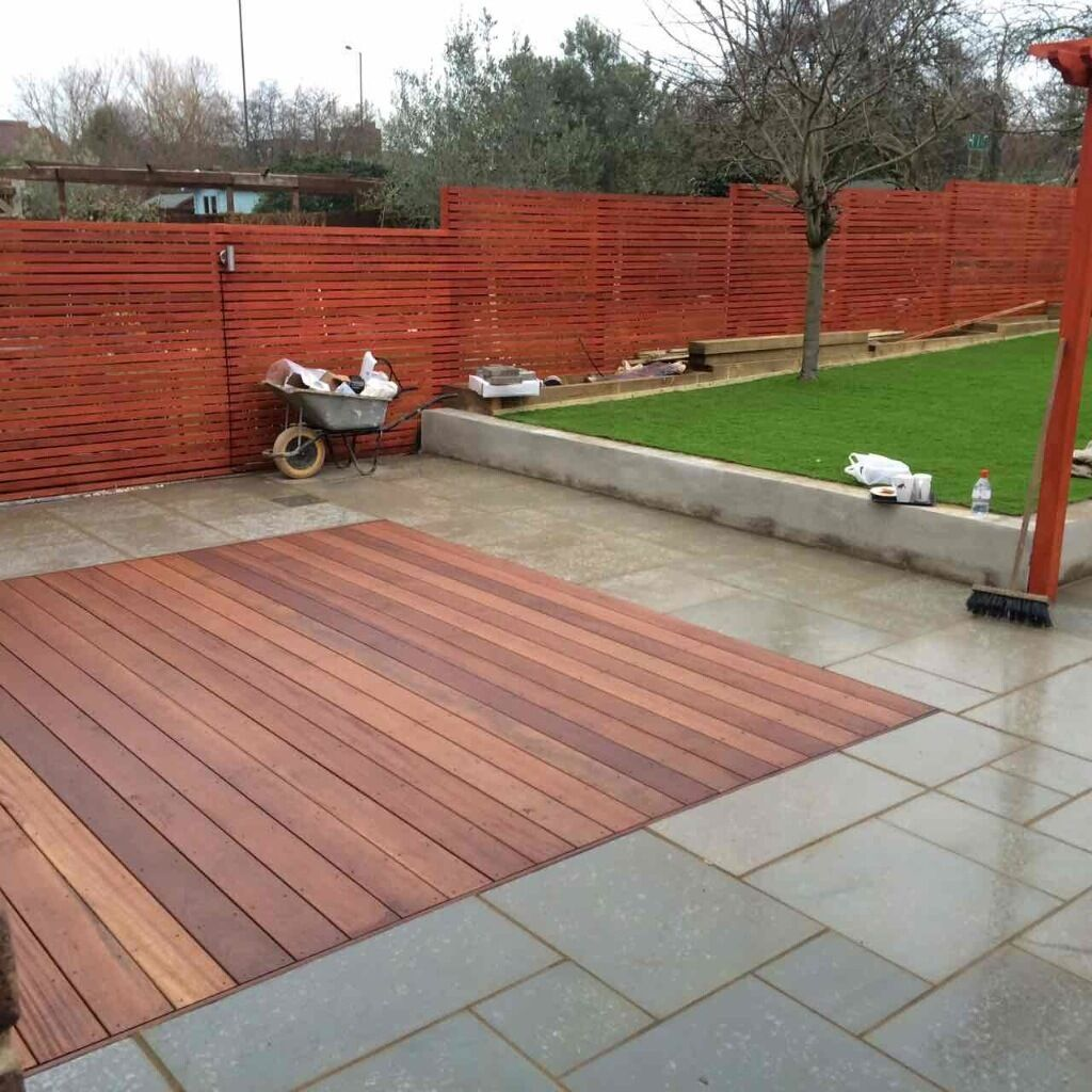 Franco landscapes specialise in full garden fencing for Garden decking with artificial grass