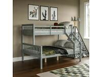 NEW & HIGH QUALITY -TRIO WOODEN BUNK BED FRAME DOUBLE BOTTOM & SINGLE TOP HIGH QUALITY