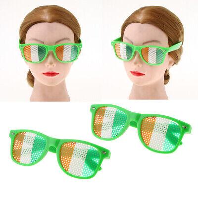 2x Kunststoff Partybrille Spaßbrille St Patricks Day Brille mit Irischen