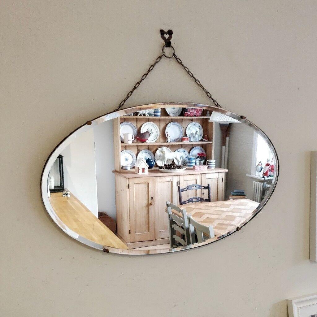 Vintage Mirror Hanging Mirror Mirror On Chain Antique