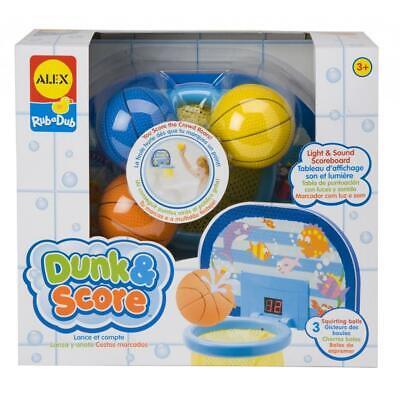 ALEX Toys Rub A Dub Dunk & Score Kids Basketball Tub Toy Lights & Sound - New! Alex Toys Dunk