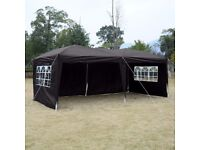Garden Party Kit - 6 x 3m Gazebo, 15 chairs, 2 Solid Wood Top Beer Tables 180cm - Only used once