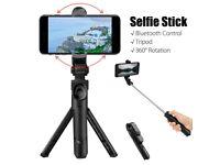 New 360 Degree Selfie Stick Tripod Desktop Phone Holder with Bluetooth Remote Control