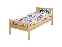ikea toddler bed, excellent condition with safety rail and mattress