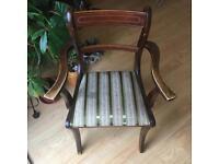Wooden vintage armchair