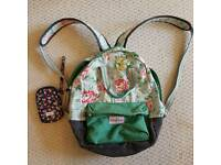 Cath Kidson kids back pack and phone or gadget zip case