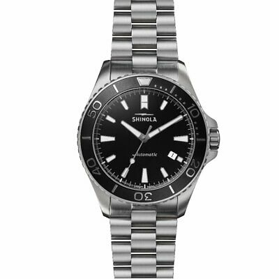 Shinola Automatic 43MM Lake Superior Monster Black Watch S0120097178 Limited NEW