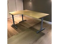 Ikea GALLANT Corner Desk in Beech - Large desk in excellent condition