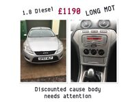 DISCOUNTED FORD MONDEO, 2008, 1.8 DIESEL