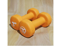 FITNESS MAD - 3KG Neo Dumbbells - neoprene coated weights - LIKE NEW conditions dumbells UNISEX