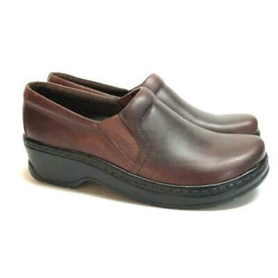 NEW Klogs Naples Women 11 Closed Back Clogs Brown Infield Distressed Leather