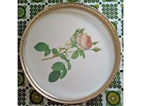 Woodmet rose-design tea tray - English 60s retro kitsch