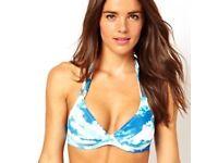 ASOS Cloud Print Bikini Top, size 30E