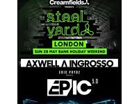 X2 Steel yard tickets Eric Prydz AND Axwell ingrosso