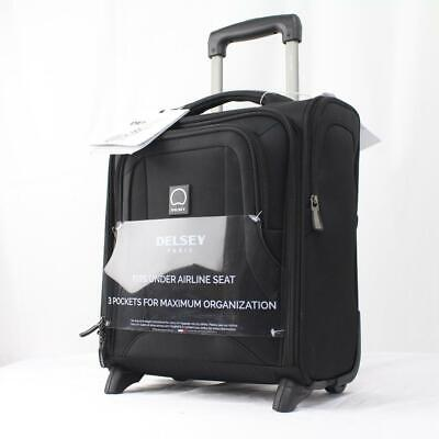 """DELSEY OPTIMAX LITE 15"""" UNDERSEATER ROLLING CARRY ON TOTE BL"""