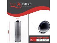"PRO Fox Hydroponics 10"" Inch (250mm x 1000mm)Carbon Filter Indoor Growing"