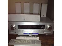 Teac AG 7D AV digital home theatre reciever, 6 speakers and DVD player