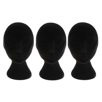 3 Female Styrofoam Foam Mannequin Manikin Head Models Wig Glasses Display Stands