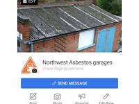Asbestos garages, floor tiles, Artex cieling and loft insulation