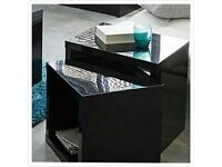 New echo, black gloss nest of coffee tables