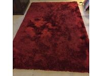 Large Dark Red Rug
